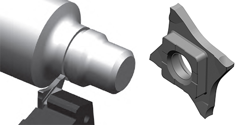 hard part treading grooving hard material grooving solution